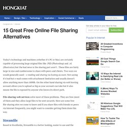 15 Great Free Online File Sharing Alternatives