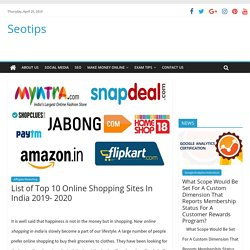 List of top 10 online shopping sites in India 2019- 2020