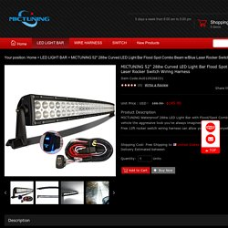 online shopping 50 led light bar 288w waterproof