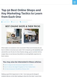 Top 50 Best Online Shops and Their Key Marketing Tactics