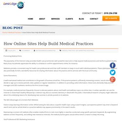 How Online Sites Help Build Medical Practices