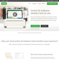 Online Till Software for Retail Stores - Free Trial on Vend