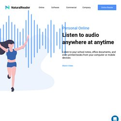 Online Text to Speech Web APP with Natural Voices