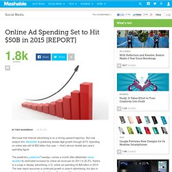 Online Ad Spending to Nearly Double to $50B in 2015 [REPORT]