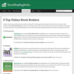Best online forex brokers 2012