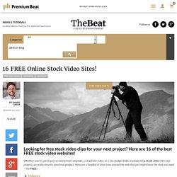 16 FREE Online Stock Video Sites!