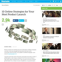 10 Online Strategies for Your Next Product Launch
