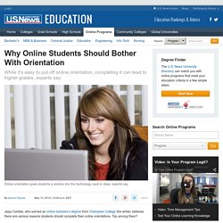 Why Online Students Should Bother With Orientation