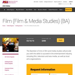 Online Film Media Studies Degree ASU Online Degrees
