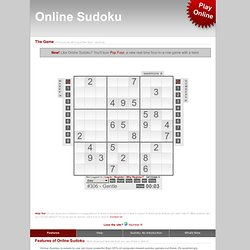 Online Sudoku - The Best Online Sudoku Game EVER
