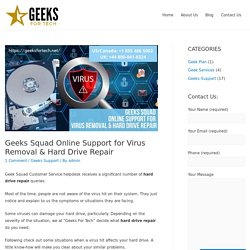 Geeks Squad Online Support-Virus Remove-HDD Repair