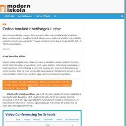 Online tanulási lehetőségek I. rész