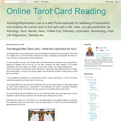 Know The Hanged Man by Tarot Card Reader in Reading Courses