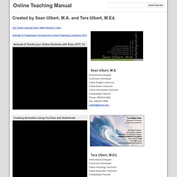 Online Teaching Manual