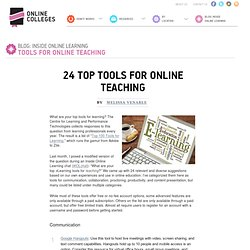 24 Top Tools for Online Teaching