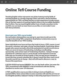 Online Tefl Course Funding