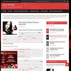 Situs Judi Online Terbaru Joker123