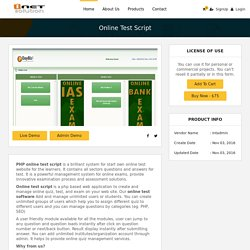 Online Test Script, PHP Online Test Script - i-Netsolution