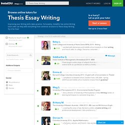 Online Thesis Essay Writing Tutors