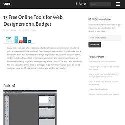 15 Free Online Tools for Web Designers on a Budget | Tools