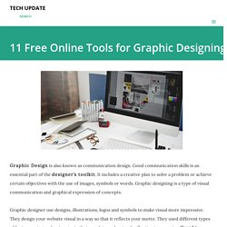 11 Free Online Tools for Graphic Designing
