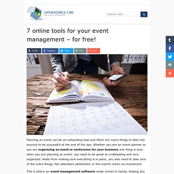 7 online tools for your event management - for free! » Open Source CMS
