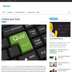 5 Online Quiz Tools - Voniz Articles