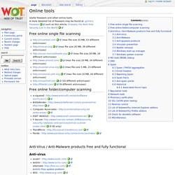 Online tools - WOT Wiki