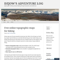 Free online topographic maps for hiking