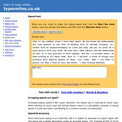 free online touch typing speed test - wpm words per minute
