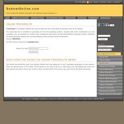 Online TraceRoute - SubnetOnline.com