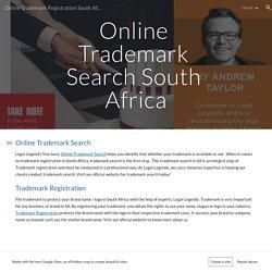Online Trademark Search SA