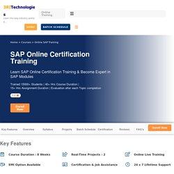 SAP Online Training Certification Course