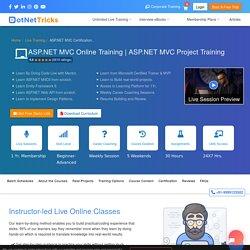 ASP.NET MVC Online Training Course