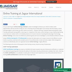 Online Training at Jagsar International