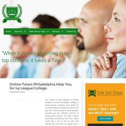 Online Tutors - Philadelphia tutors