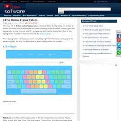 5 Free Online Typing Tutor