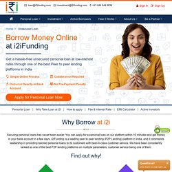 Online Loans - Unsecured Personal Loans at Low Interest Rate