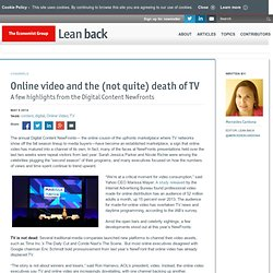 Online video and the (not quite) death of TV