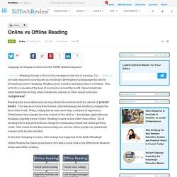 Online vs Offline Reading