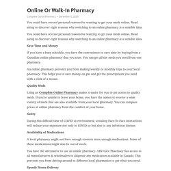 Online Or Walk-In Pharmacy – Telegraph