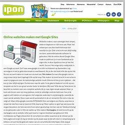 Online websites maken met Google Sites