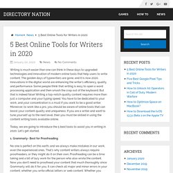5 Best Online Tools for Writers in 2020 – Directory Nation