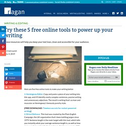 Try these 5 free online tools to power up your writing - Ragan Communications
