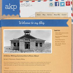 8 Online Writing Communities to Know About