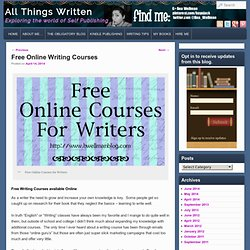 Free Online Writing Courses - All Things Written