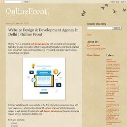 OnlineFront: Website Design & Development Agency in Delhi