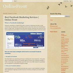 OnlineFront: Best Facebook Marketing Services