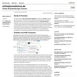 Storify im Praxistest
