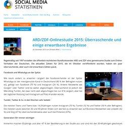 ARD/ZDF-Onlinestudie 2015 ...